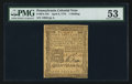 Colonial Notes:Pennsylvania, Pennsylvania April 3, 1772 1s PMG About Uncirculated 53.. ...