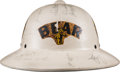 Miscellaneous Collectibles:General, 1955 Indy Car Drivers Multi-Signed Bear Safety Service PithHelmet....