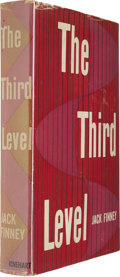Books:First Editions, Jack Finney: The Third Level (New York: Rinehart & Co.,1957), first edition, 256 pages, red boards, 8vo, dust jacke...