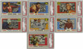 Football Collectibles:Uniforms, 1955 Topps All-American Football Near Complete Set (98/100). This near set is missing only two cards - #18 Heffelfinger, 27 ...