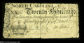 Colonial Notes:North Carolina, North Carolina March 9, 1754 20s Very Fine....