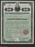 Miscellaneous:Other, 3% Adjusted Service Bond of 1945 A most interesting United StatesBond, as this lot and the two that follow contain example...