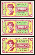 Military Payment Certificates:Series 541, Series 541 50¢ Three Examples Choice New or Better. . ... (Total: 3 notes)