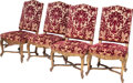 Furniture, A SET OF FOUR LOUIS XVI-STYLE UPHOLSTERED GILTWOOD SIDE CHAIRS, late 19th century. 40-1/2 x 22 x 19 inches (102.9 x 55.9 x 4... (Total: 4 Items)
