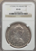 Mexico, Mexico: Charles III 8 Reales 1772 Mo-FM XF45 NGC,...