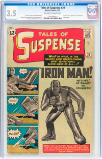 Tales of Suspense #39 (Marvel, 1963) CGC VG- 3.5 Off-white to white pages