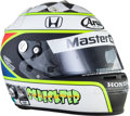Miscellaneous Collectibles:General, 2007 Tomas Scheckter Race Worn Helmet....