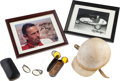 Miscellaneous Collectibles:General, 1950's Ernie McCoy Race Worn Helmet, Goggles (2 pair) & SignedPhotographs (2)....