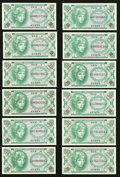 Military Payment Certificates:Series 641, Series 641 10¢ Twelve Examples Choice New or Better. . ... (Total:12 notes)