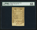 Colonial Notes:Rhode Island, Rhode Island May 1786 £3 PMG Choice Uncirculated 63.. ...