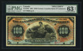 Canadian Currency: , Toronto, ON- Canadian Bank of Commerce $100 Jan. 2, 1901 Ch. #75-14-58S Specimen . ...