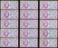 Military Payment Certificates:Series 641, Series 641 5¢ Eighteen Examples Choice New or Better. . ... (Total:18 notes)