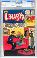 Silver Age (1956-1969):Humor, Laugh Comics #73 (Archie, 1956) CGC VF+ 8.5 Off-white pages....