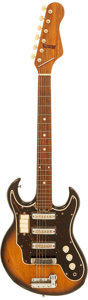 Musical Instruments:Electric Guitars, Early 1970's Maxitone Model 6923 Sunburst Solid Body ElectricGuitar....