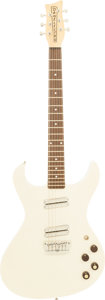 Musical Instruments:Electric Guitars, 2000's Danelectro White Solid Body Electric Guitar....