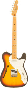 Musical Instruments:Electric Guitars, 1998 Fender Telecaster Sunburst Semi-Hollow Body Electric Guitar,Serial # MN899647....