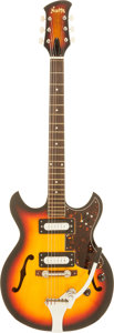 Musical Instruments:Electric Guitars, 1970's Norma EG-871 Sunburst Semi-Hollow Body Electric Guitar,Serial # 205....