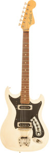 Musical Instruments:Electric Guitars, 1968 Hagstrom II White Solid Body Electric Guitar, Serial #641718....