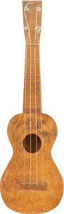 Musical Instruments:Banjos, Mandolins, & Ukes, 1940's No-Name Natural Ukulele....