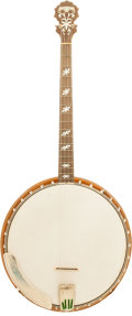 Musical Instruments:Banjos, Mandolins, & Ukes, 1930's Langstile Model III Natural Tenor Banjo....