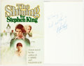 Books:Horror & Supernatural, Stephen King. INSCRIBED. The Shining. Garden City: Doubledayand Co., 1977. Early printing....