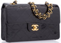 "Luxury Accessories:Bags, Chanel Black Quilted Patent Leather Small Single Flap Bag with GoldHardware. Very Good Condition. 9"" Width x 6"" Heigh..."