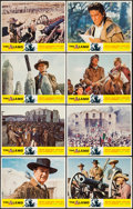 "Movie Posters:Western, The Alamo (United Artists, R-1967). Lobby Card Set of 8 (11"" X 14"") and Cut Pressbook (8 Pages, 11"" X 17""). Western.. ... (Total: 9 Items)"