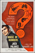 "Movie Posters:Film Noir, House of Numbers (MGM, 1957). One Sheet (27"" X 41""). Film Noir....."