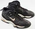 Basketball Collectibles:Others, Eric Montross Game Worn, Signed Sneakers....