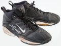 Basketball Collectibles:Others, Walter McCarty Game Worn, Signed Sneakers....