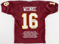 Football Collectibles:Uniforms, Chris Weinke Signed Florida State Seminoles Jersey....