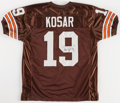 Football Collectibles:Uniforms, Bernie Kosar Signed Cleveland Browns Jersey....