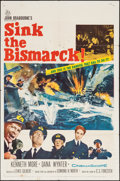 "Movie Posters:War, Sink the Bismarck! (20th Century Fox, 1960). One Sheet (27"" X 41"").War.. ..."