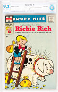 Silver Age (1956-1969):Humor, Harvey Hits #3 Richie Rich - File Copy (Harvey, 1957) CBCS NM- 9.2 Cream to off-white pages....