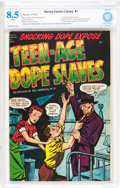 Golden Age (1938-1955):Crime, Harvey Comics Library #1 Teen-Age Dope Slaves (Harvey, 1952) CBCS VF+ 8.5 White pages....