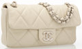 "Luxury Accessories:Accessories, Chanel Light Beige Quilted Caviar Leather Medium Flap Bag.Excellent Condition. 10"" Width x 6"" Height x 2.5""Depth. ..."