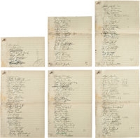 1960s Racing Greats Multi Signed Sheets