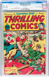 Thrilling Comics #44 Mile High Pedigree (Better Publications, 1944) CGC NM 9.4 White pages