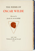 Books:Literature Pre-1900, [Oscar Wilde]. Jean De Bosschère, illustrator. The Poems ofOscar Wilde. New York: Boni & Liveright, 1927. First edi...