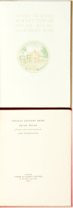 Books:Biography & Memoir, [Oscar Wilde]. Two Limited Edition Collections of Oscar WildeCorrespondence. Titles include After Reading. Letters of O...(Total: 2 Items)