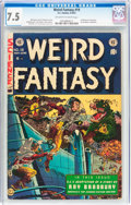 Golden Age (1938-1955):Science Fiction, Weird Fantasy #19 (EC, 1953) CGC VF- 7.5 Off-white to whitepages....
