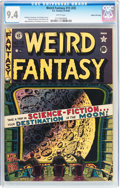 Golden Age (1938-1955):Science Fiction, Weird Fantasy #15 (#3) Gaines File pedigree (EC, 1950) CGC NM 9.4White pages....