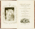 Books:Sporting Books, Izaak Walton and Charles Cotton. The Complete Angler, orContemplative Man's Recreation. London: James Smith, 1822. ...