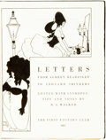 Books:Biography & Memoir, [Aubrey Beardsley]. R. A. Walker, editor. Letters from Aubrey Beardsley to Leonard Smithers. [London:] The First Edi...