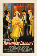 "Movie Posters:Drama, Broadway Daddies (Columbia, 1928). One Sheet (27"" X 41"") Style A....."