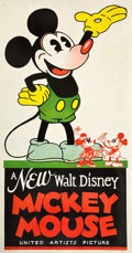"Movie Posters:Animation, Mickey Mouse Stock Poster (United Artists, 1932). Three Sheet (41""X 79"").. ..."