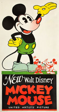 "Mickey Mouse Stock Poster (United Artists, 1932). Three Sheet (41"" X 79"")"