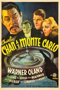 "Charlie Chan at Monte Carlo (20th Century Fox, 1937). One Sheet (27"" X 41"")"