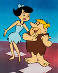 Animation Art:Presentation Cel, The Flintstones Betty and Barney Rubble Publicity Cel(Hanna-Barbera, c. 1970s)....