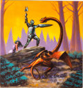 Original Comic Art:Covers, Kenn Nishiuye Mystic Wood Third Edition Game Box CoverPainting Original Art (Avalon Hill, 1982).... (Total: 2 Items)